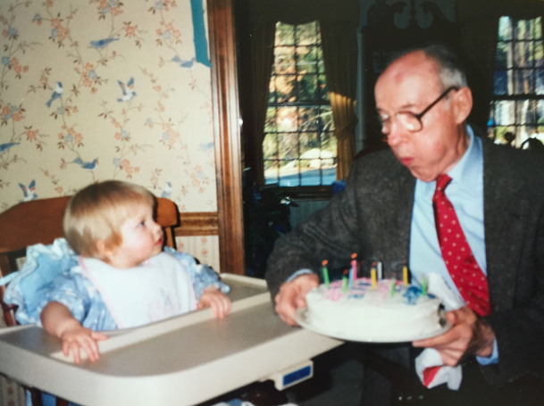 My grandfather and me on my first birthday.